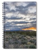 Stormy Santa Fe Mountains Sunrise - Santa Fe New Mexico Spiral Notebook