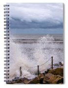 Stormy Seafront  Spiral Notebook