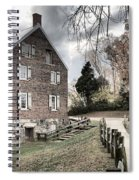 Stormy Skies Over The 1823 Grist Mill Spiral Notebook