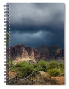 Stormy Skies Over The Superstitions Spiral Notebook