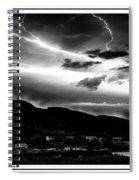 Stormy Sky - Lightening - Small Town Spiral Notebook