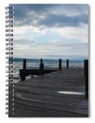 Stormy Sky Over Seneca Lake Spiral Notebook