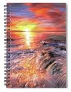 Stormy Sunset At Water's Edge Spiral Notebook
