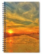 Stormy Sunset Over Santa Ana River Spiral Notebook