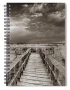 Stormy Weather At The Lake Vintage Spiral Notebook