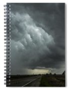 Stormy Whale's Mouth Spiral Notebook