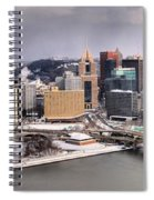 Stormy Winter Skies Over The Point Spiral Notebook