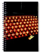 St.patricks Cathedral Candles Spiral Notebook