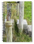 Straddle The Fence Spiral Notebook