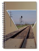 Straight As A Rail Spiral Notebook