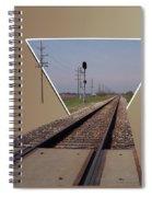 Straight As A Rail Spiral Notebook