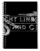 Straight Lines And Circles Spiral Notebook