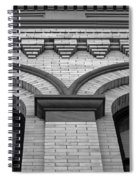 Straight Up Perspective - Black And White Spiral Notebook