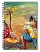 Stranded In Tahiti Spiral Notebook