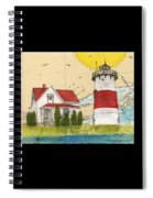 Stratford Pt Lighthouse Ct Nautical Chart Map Art Spiral Notebook
