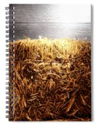 Straw Bale In Old Barn Spiral Notebook