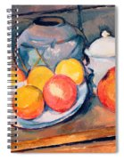 Straw Covered Vase Sugar Bowl And Apples Spiral Notebook