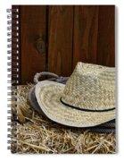 Straw Hat  On  Hay Spiral Notebook