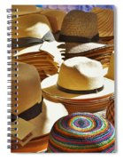 Straw Hats Spiral Notebook