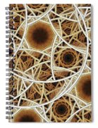 Straw Mosaic Spiral Notebook