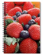 Strawberries Blueberries Mangoes - Fruit - Heart Health Spiral Notebook