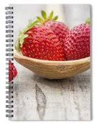 Strawberries In A Wooden Spoon Spiral Notebook