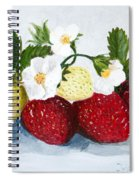 Strawberries With Blossoms Spiral Notebook
