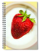 Strawberry And Cream Spiral Notebook