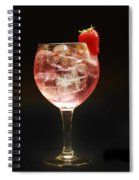 Strawberry Gintonic Spiral Notebook