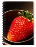 Strawberry In Nested Bowls Spiral Notebook