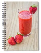 Strawberry Juice Spiral Notebook