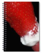 Strawberry Lips And Cream Spiral Notebook