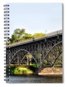 Strawberry Mansion Bridge And The Schuylkill River Spiral Notebook