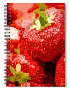 Strawberry Mosaic Spiral Notebook