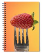 Strawberry On Fork Spiral Notebook