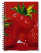 Strawberry Red Spiral Notebook
