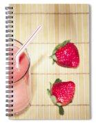 Strawberry Smoothie Spiral Notebook