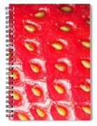 Strawberry Texture Spiral Notebook