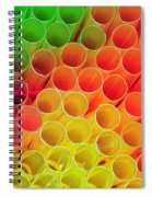 Straws In Color Spiral Notebook