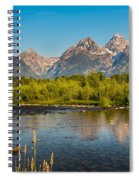 Stream At The Tetons Spiral Notebook