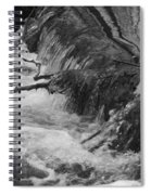 Stream Cascades Over Small Dam Spiral Notebook