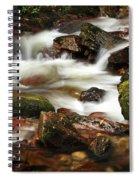 Stream Running Over Rocks Spiral Notebook