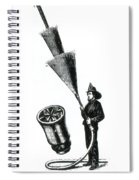 Stream Spreading Water Nozzle, 1865 Spiral Notebook