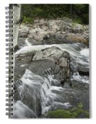 Stream With Waterfall In Vermont Spiral Notebook
