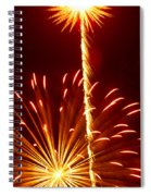 Streaming Fireworks Spiral Notebook
