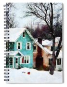 Street After Snow Spiral Notebook