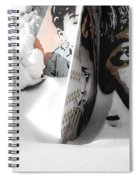 Street Art In The Snow Spiral Notebook