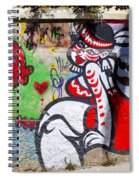 Street Art Valparaiso Chile 10 Spiral Notebook