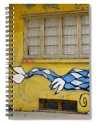 Street Art Valparaiso Chile 12 Spiral Notebook