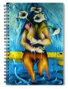 Street Art Valparaiso Chile 2 Spiral Notebook